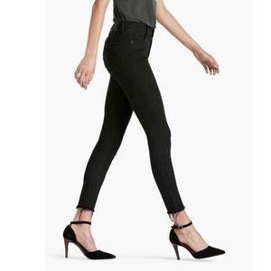 Lucky Brand Bridgette Skinny Black Frayed Jeans